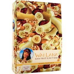 Wai Lana Raw Fruit & Nut Bar Nana Banana 12 bars