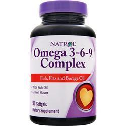 NATROL Omega 3-6-9 Complex Lemon 90 sgels