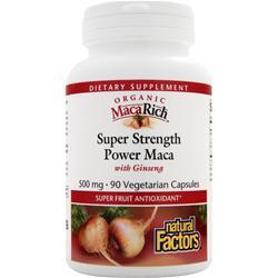 NATURAL FACTORS Super Strength Power Maca with Ginseng 90 vcaps