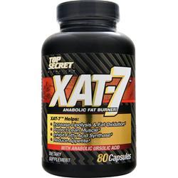 TOP SECRET NUTRITION XAT-7 Anabolic Fat Burner 80 caps