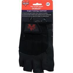 Valeo Ocelot Lifting Gloves Black (M) 2 glove