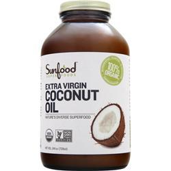 SUNFOOD Extra Virgin Coconut Oil 25 fl.oz