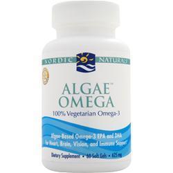Nordic Naturals Algae Omega - 100% Vegetarian Omega 3 60 sgels