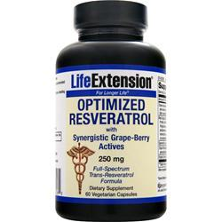 LIFE EXTENSION Optimized Resveratrol with Synergistic Grape-Berry Actives (250mg) 60 vcaps