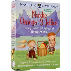 Nordic Naturals Nordic Omega-3 Jellies 36 gummy