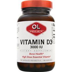 OLYMPIAN LABS Vitamin D3 (3000IU) 100 caps