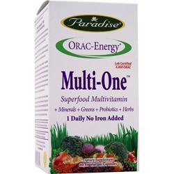 PARADISE HERBS Orac-Energy Multi One No Iron Added 60 vcaps