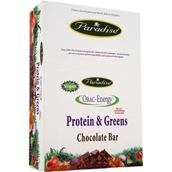 Paradise Herbs Orac-Energy Protein & Greens Bar Chocolate 12 bars