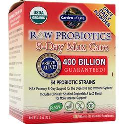 GARDEN OF LIFE Raw Probiotics - 5-Day Max Care 75 grams