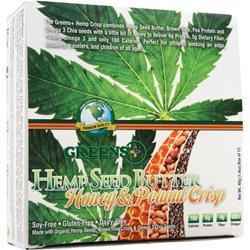 GREENS PLUS Hemp Seed Butter Bar Honey & Peanut Crisp 12 bars