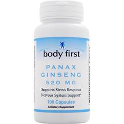 Body First Panax Ginseng (500mg) 100 caps