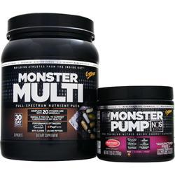 Cytosport Monster Multi with Free Monster Pump NOS Fruit Punch 30 pckts