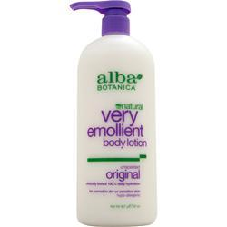 Alba Botanica Very Emollient Body Lotion Unscented 32 fl.oz