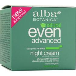 ALBA BOTANICA Even Advanced - Night Cream 2 oz