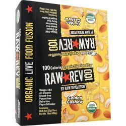 RAW INDULGENCE Raw Rev 100 Bar Golden Cashew 20 bars