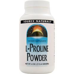 Source Naturals L-Proline Powder 4 oz