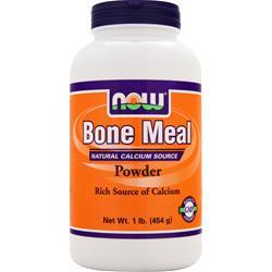 NOW Bone Meal - Natural Calcium Source Powder 1 lbs