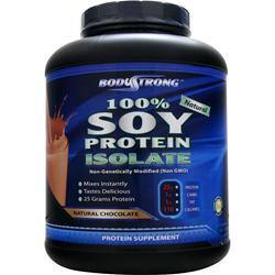 BODYSTRONG 100% Soy Protein Isolate Natural Chocolate 5 lbs