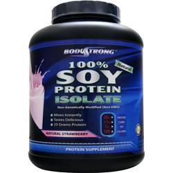BodyStrong 100% Soy Protein Isolate Natural Strawberry 5 lbs