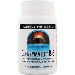 Source Naturals Coenzymated B-6 120 tabs
