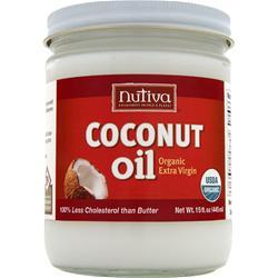 NUTIVA Organic Virgin Coconut Oil Liquid Glass Jar 15 fl.oz