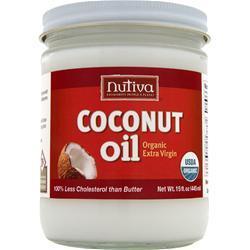Nutiva Organic Virgin Coconut Oil Liquid Glass Jar 15 fl.oz