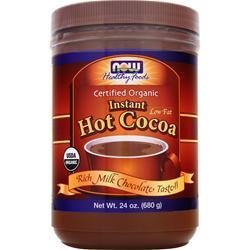 NOW Instant Hot Cocoa Certified Organic 1.5 lbs