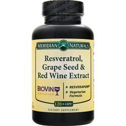 MERIDIAN NATURALS Resveratrol Grape Seed & Red Wine 120 kcaps