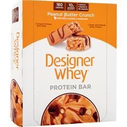 DESIGNER WHEY Protein Bar Peanut Butter Crunch 12 bars