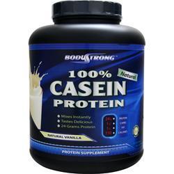 BodyStrong 100% Casein Protein - Natural Vanilla 5 lbs