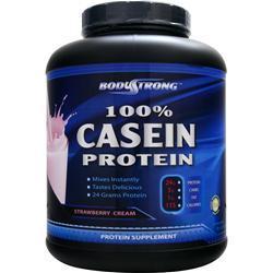 BODYSTRONG 100% Casein Protein Strawberry Cream 5 lbs