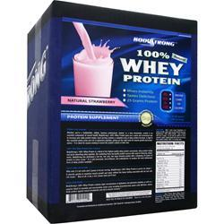 BODYSTRONG 100% Whey Protein - Natural Strawberry 10 lbs