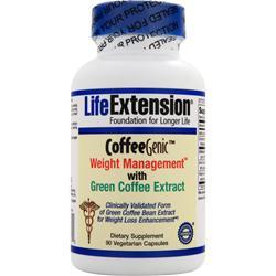 LIFE EXTENSION CoffeeGenic Weight Management with Green Coffee Extract 90 vcaps