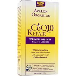 Avalon Organics CoQ10 Repair Wrinkle Defense Night Creme 1.75 fl.oz