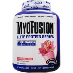 GASPARI NUTRITION MyoFusion Elite Protein Series Strawberries & Cream 4 lbs