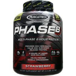 Muscletech Phase 8 - Multi Phase 8 Hour Protein Strawberry 4.4 lbs