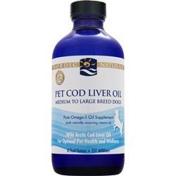 Nordic Naturals Pet Cod Liver Oil Medium to Large Breed Dog 8 fl.oz