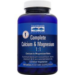 TRACE MINERALS RESEARCH Complete Calcium & Magnesium 1:1 120 tabs