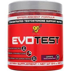 BSN Evotest Powder - Concentrated Testosterone Support Matrix Grape Best by 1/15 267 grams