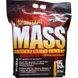 FIT FOODS Mutant Mass - Muscle Mass Gainer Triple Chocolate 15 lbs