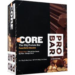 PRO BAR Core Bar Peanut Butter Chocolate 12 bars