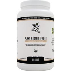 22 Days Plant Protein Powder Vanilla 28.6 oz