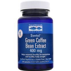 Trace Minerals Research Green Coffee Bean Extract (400mg)  EXPIRES 2/16 30 vcaps