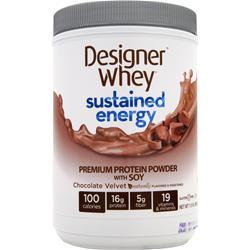 DESIGNER WHEY Sustained Energy Protein Chocolate Velvet 680 grams