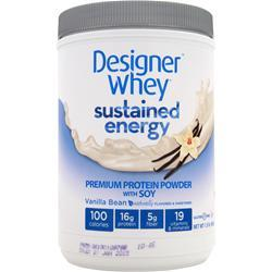 DESIGNER WHEY Sustained Energy Protein Vanilla Bean 680 grams