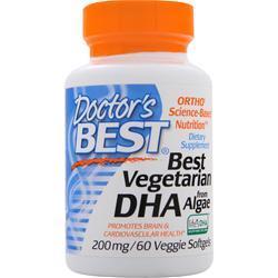 Doctor's Best Best Vegetarian DHA from Algae 60 sgels