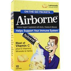 AIRBORNE Airborne - On The Go Packets Lemonade 10 pckts