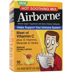 Airborne Airborne - Hot Soothing Mix Honey Lemon 10 pckts