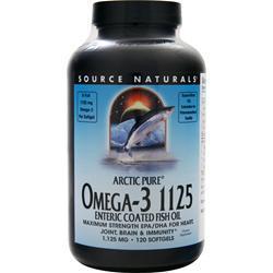 Source Naturals Arctic Pure Omega-3 1125 Enteric Coated Fish Oil 120 sgels