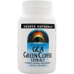SOURCE NATURALS GCA Green Coffee Extract 120 tabs